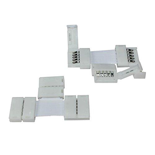 Morelight T-SHAPE 5 Pin 12 mm Quick Conenctor Clip On für 5050 RGB LED Strip Light Band Band 3 Stück