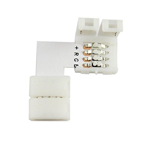 xujw-led 10PCS LED-Streifen-Verbindungsstück 5050 RGB LED-Verbindungsstück 10mm 4Pin LED-Streifen-Licht-Verbindungsstücke  Size  L Shape