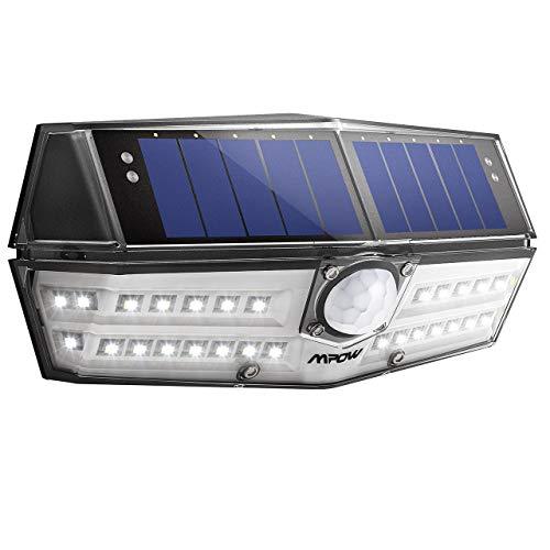 Solarlampe für Außen【INNOVATIVE VERSION】Mpow 30 LED Solarleuchte mit Bewegungsmelder IP6 Wasserdicht SunPower Solarlicht 120 ° Weitwinkel Solarlampe Wandleuchte für Garten Auffahrt Hof Garage