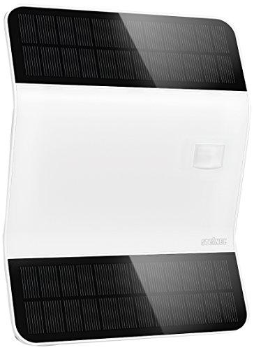 Steinel LED-Solar-Leuchte Xsolar L2-S weiß 170° Bewegungsmelder LED Wandleuchte 2500 mAh LiFe Akku mit Hausnummern