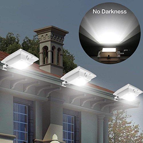 Solar-Beleuchtung mit Bewegungssensor für den Außenbereich cool white