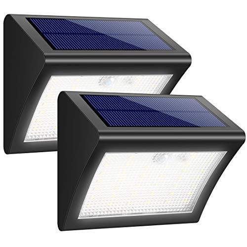 iposible Solarleuchte für Außen 2 Stück 38 LED Solarlampen mit Bewegungsmelder Wasserdichte Solar Beleuchtung LED Solarbetriebene Lichter mit 3 Modi Solarlicht Superhelles für Licht für Garten