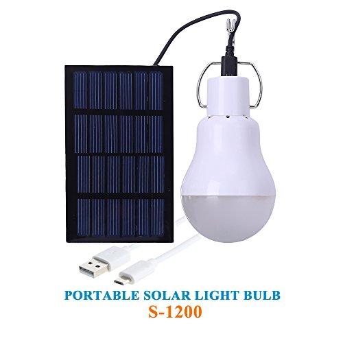 KKBOL Solar Glühbirne solarlampe Garten Solar-leuchten Solar Lampe Innen Camping Glühbirne Solar Led Lampe außen
