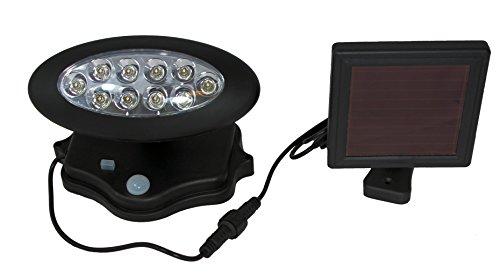 LED Solarleuchte Solarlampe Außenleuchte 504637 Beleuchtung Bewegungsmelder Lampe schwarz Solar Garten