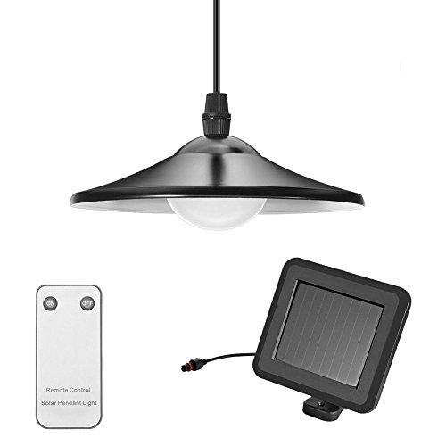 Solarlampen für Außen Tomshine Solar Hängeleuchte mit Fernbedienung Tragbare Solarleuchte 2 Modi Solar Pendelleuchte Hängelampe mit Solarpanel und Zugschalter- IP44 Wasserdicht