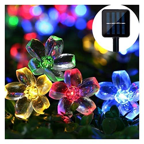 Solar Lichterkette ,MrTwinklelight 65M 50er LED Lichterkette Außen Blumen Garten Licht für Garten Terrasse Zuhause Weihnachtsdeko und Partys Mehrfarbig