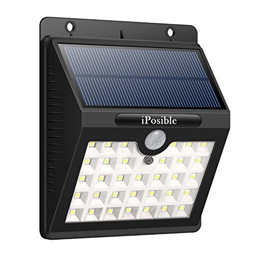Solarleuchten für Außen iPosible Solarleuchte Gartenbeleuchtung Solarlampe mit bewegungsmelder 3 Modi Solar Betriebene Außenleuchte Wasserdichte 33 LED Wandleuchte Licht für Garten Patio Deck Hof