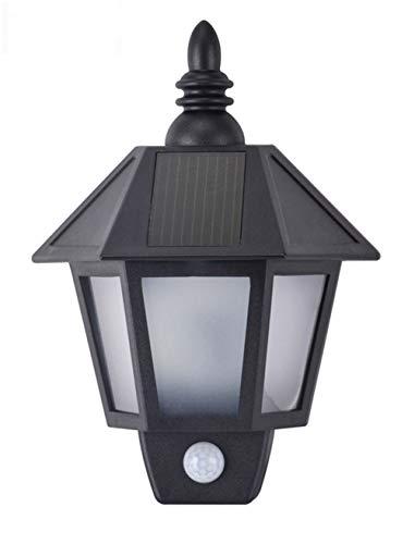 HUANGLP Solar Wandleuchte GartenKlassische LED Wasserdichte Wandlampe Im Freien Intelligente Induktionslampe-Ausgangsinnenbeleuchtung