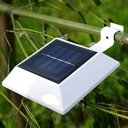 NORDSD 4 Stück Solarleuchten LED Solarleuchte 4 LEDs Wasserdicht Außenlampe Leuchte Wandlampe Solar für Garten Terrasse Fahrtweg Höfe Traufen  Zaun