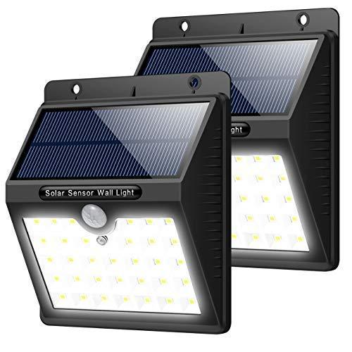 Trswyop Solarleuchten Außen 2 Stück 33 led Superhelles SolarLampen mit Bewegungssensor 3 Modi Solarlicht Wasserdichte Solarbetriebene Sicherheitswandleuchte Beleuchtung für GartenZaun Pfad