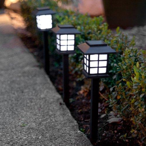 Lights4fun 6er Set LED Solar Laterne Gartenleuchte