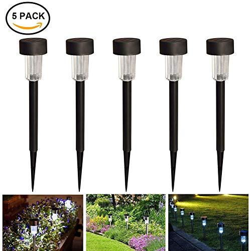 SolarleuchtenSolar-Gartenleuchte KUXIEN 5 Stück LED Solarlampe für den Garten- Aussenleuchten Solar Wegbeleuchtung Wasserdicht Perfekt für Garten Balkon und Terrasse