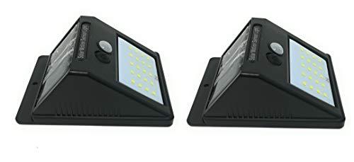 ZEEFO 2Pack 20 LEDs Solarleuchten für Aussen Superhelle 3 Modi Solarleuchte Garten Solarlampe für Wände Auffahrt InnenhofHofFlurVeranda