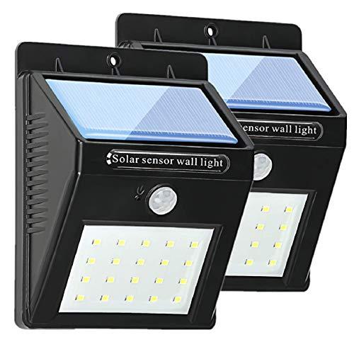 SolarleuchteLED WandleuchteSolarlampen 20 LED1200 mAh IP65 Wasserdicht Motion Sensor Licht Außenleuchte für Beleuchtung GartenTerrasseWPoolAuffahrtUswSolar Wandleuchte2 Stück