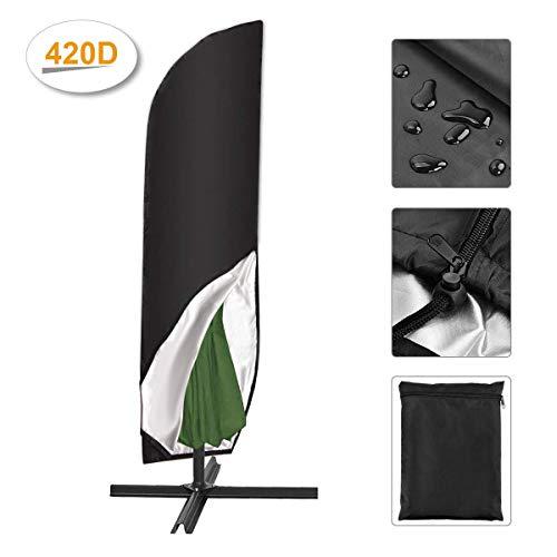 SanGlory 420D Schutzhülle für Sonnenschirm bis Ø 300 cm Regenschirm Abdeckung Wetterfeste Outdoor Universal-Hülle Bahamas Serie für StandschirmAmpelschirm Hülle mit Aufbewahrungstasche