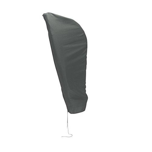 greemotion Schutzhülle Sonnenschirm 3m Durchmesser - Schirmhülle Ampelschirm in Grau - Gartenmöbel Abdeckung - Sonnenschirmhülle - Schirmabdeckung Polyester - Gartenschutzhülle für Outdoor-Möbel