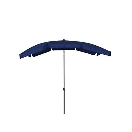 Sonnenschirm mit UV-Schutz - Balkonschirm - Gartenschirm knickbar - Terrassenschirm rechteckig - Outdoor-Schirm für Balkon Terrasse Garten Blau-Grau