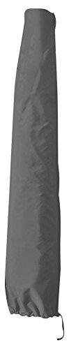 greemotion Schutzhülle Sonnenschirm 3m Durchmesser - Schirmhülle Marktschirm in Grau - Gartenmöbel Abdeckung - Sonnenschirmhülle - Schirmabdeckung Polyester - Gartenschutzhülle für Outdoor-Möbel