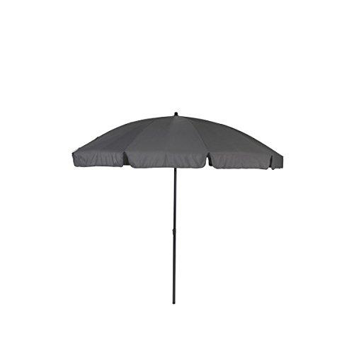 greemotion Sonnenschirm 3m mit UV-Schutz - Balkonschirm in Anthrazit-Grau - Gartenschirm knickbar - Terrassenschirm rund - Outdoor-Schirm für Balkon Terrasse Garten