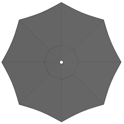 paramondo Sonnenschirm Bespannung ink Air Vent für interpara Sonnenschirm 35m  rund grau