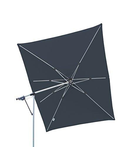 Doppler Hochwertiger Ampelschirm Sun Line Pendel 300 x 220 in anthrazit schwenkbar 360 Grad drehbar UV-Schutz 50 PLUS inklusive Ständer und Schutzhülle