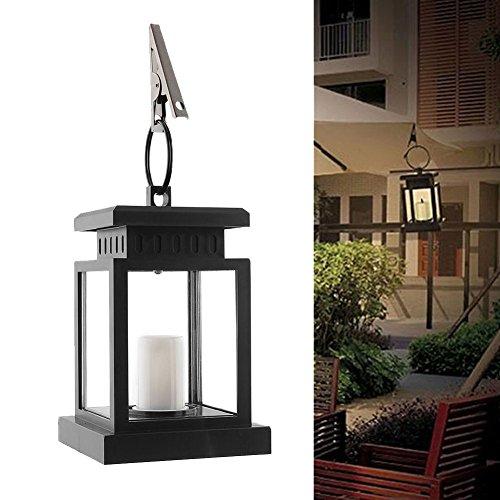 Wasserdicht Vintage Solar LED Laterne Licht mit Klemme für Sonnenschirm Aufhängen Pavilion Garten Hof Beleuchtung