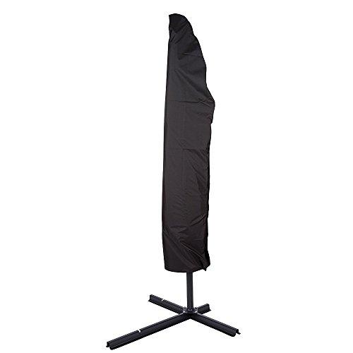 AONER 265 cm lang Schutzhülle für Sonnenschirm Ampelschirm mit Reißverschluß und Zugkordel Abdeckung Abdeckhaube Sonnenschirmhülle Hülle Schirmhülle