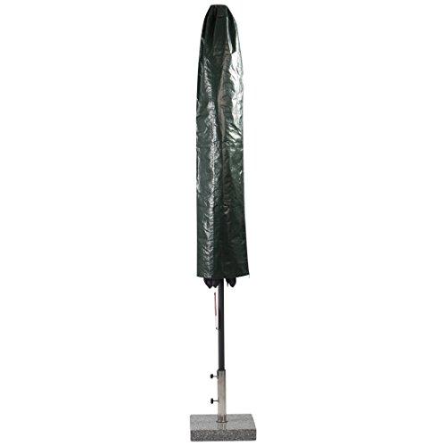 Ultranatura Hülle für Sonnenschirme  wetterfeste wasserdichte Schirmhülle als Schutz für Gartenschirme und Wäschespinnen für Schirm-Ø bis 25 cm geschlossen in der Farbe grün