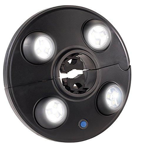Luminea Schirmbeleuchtung LED-Schirmleuchte LSL-250 mit 4 dreh- und dimmbaren Spots 250 Lumen Schirmlampe