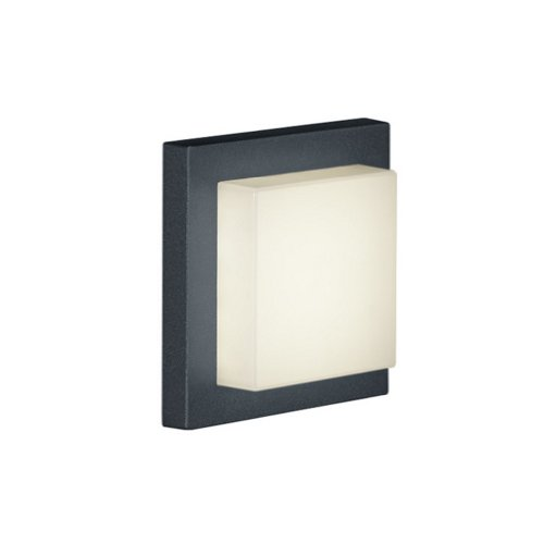 Trio Leuchten LED-Aussen-Wandleuchte Hondo in Aluminiumguss anthrazit PVC-Schirm weiß 228960142