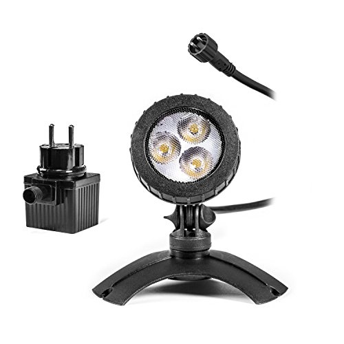 Leistungsfähiger Teichstrahler mit LED Beleuchtung Teichlicht Unterwasser Strahler LED Spotlampen unter Wasser oder an Land verwendbar Unterwasserbeleuchtung