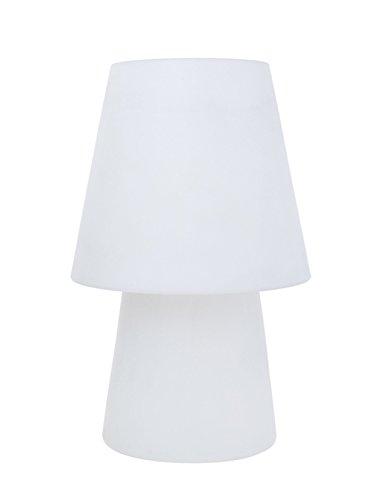 8 seasons design - Aparte Tisch- Standleuchte No 1 white E27 60cm IP44 UV- und wetterbeständig Gartenlampe Designdeko Indoor Outdoor weiß