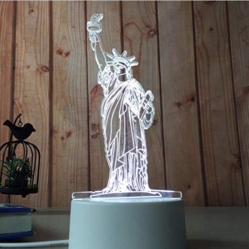 Keptei 3D Lampe Warm weiße Nachtlichter USB Acryl Nachtlicht LED Tisch Schreibtisch Schlafzimmer Dekor Geschenk Nachtlichter