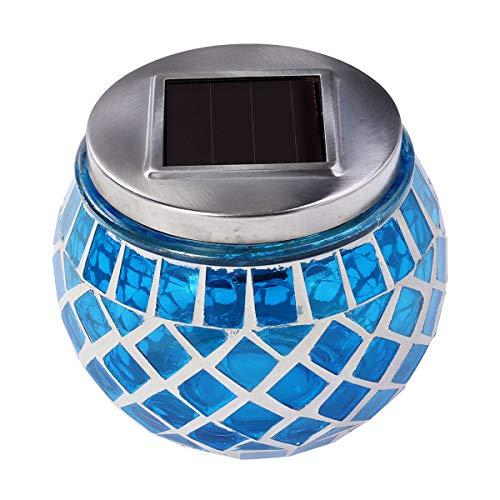 ledmomo Solar Garten Solar-Die Mosaik Kugel Glas LED schaltet Lampen Tisch im Freien