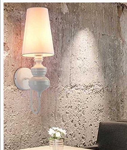 Lampe moderne Wandleuchte Silber Chrom weisses Glas Deckel innen Wand Leuchte - für eine Nachttischlampe Treppe Lampe