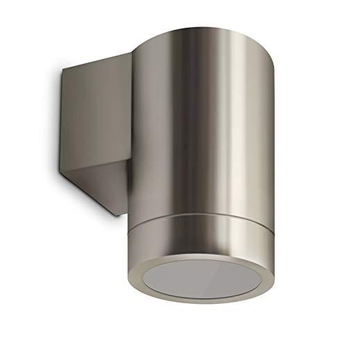 Wandleuchte Wandlampe Außenleuchte UpDown 1-Flammig Edelstahl FormF IP44 GU10-230V Ohne Leuchtmittel
