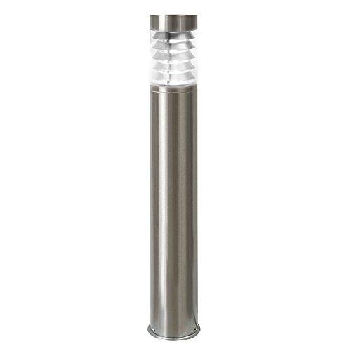 LED Standleuchte 110cm Pollerleuchte Wegleuchte Sockelleuchte Gartenleuchte Außenleuchte Edelstahl IP44 E27-230V FormS18 Neutralweiß