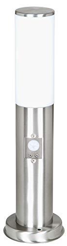 LUTEC ST022-450-PIR LED Sockelleuchte mit Bewegungsmelder Salzburg Edelstahl