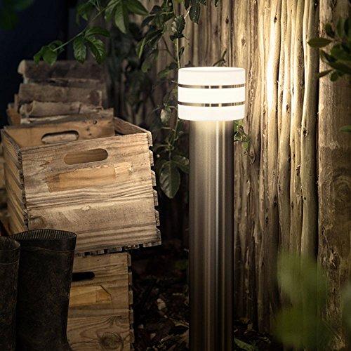 Philips Hue LED Wegeleuchte Tuar Stahl Gebürstet inkl Hue White  Hue-Stehleuchte Außenlampe