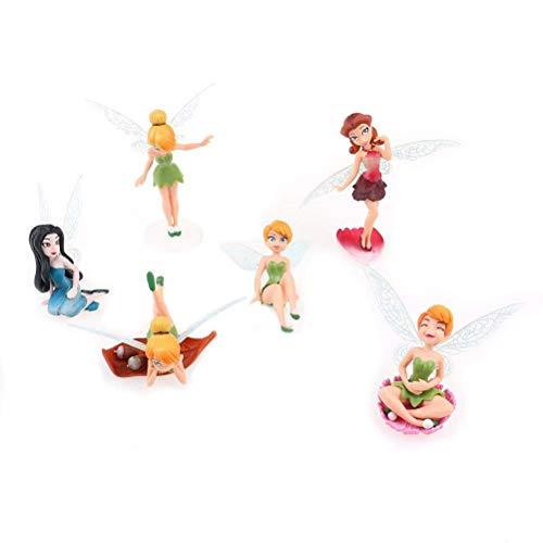 Haishell Miniatur-Figur Mini-Schweinchen aus Kunstharz 4 Stück Flower Fairy