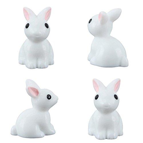 Happysea Miniatur-Figur für den Garten Mini-Häschen 4 Stück