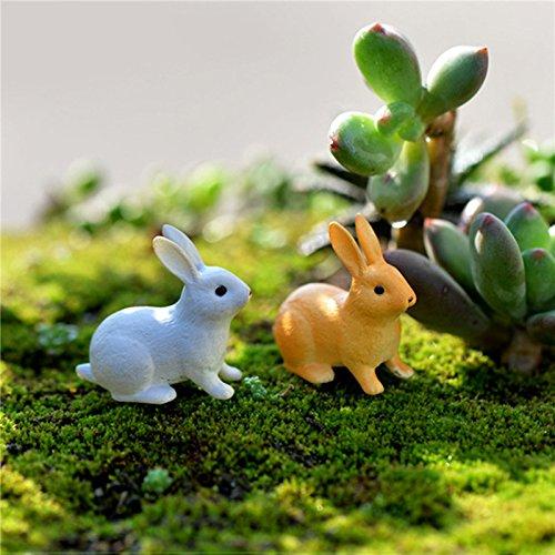 TOOGOO Kaninchen Ornament Miniatur Figur Fee Garten Dekor Dekoration Micro-Landschaft Terrarium Geschenk