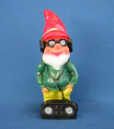 Deko Zwerg Cool mit Radio und Sonnenbrille Höhe 35 cm