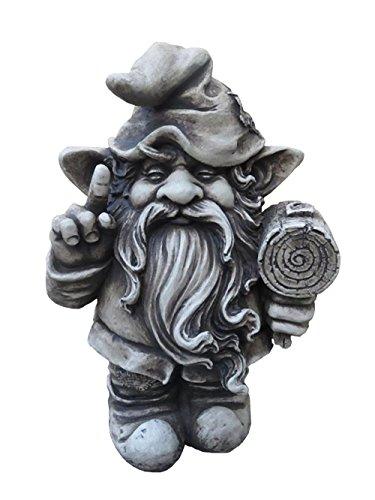 Gartenfigur Troll Zwerg Steinfiguren Garten Figur Wicht Gnom Deko Teichfigur