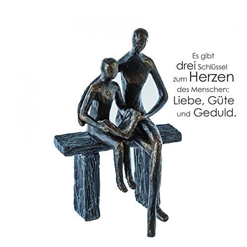 Casablanca - SkulpturDekofigur  Figur - Teaching - Polyresin - Farbe Bronze