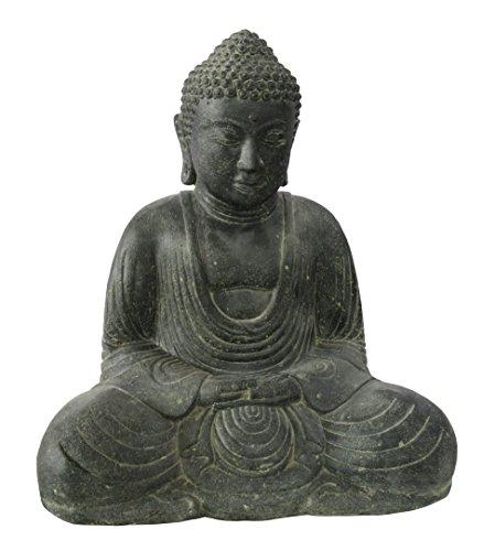 STONE art more sitzender Buddha Japan 21 cm Steinfigur Steinguss frostfest