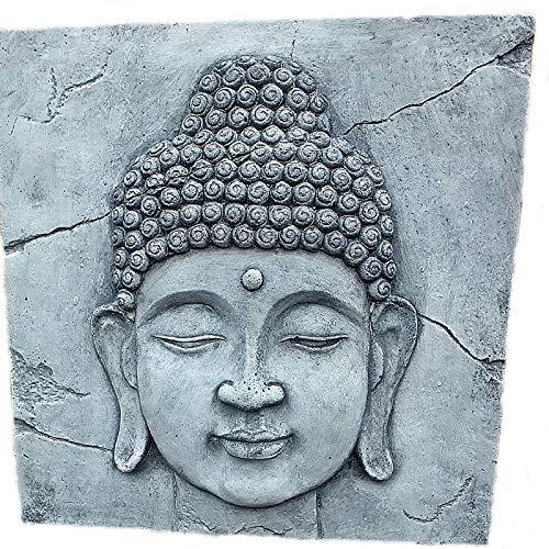 steinfiguren-neumann Wandbild Relief Steinplatte zum aufhängen mit einem Buddha Shiva Gesicht Motiv