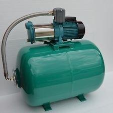 100 Liter Hauswasserwerk Pumpe MH1300 INOX Edelstahl 1300Watt Fördermenge 6000lh - 5 Laufräder aus Edelstahl - robuste und rostfreie Edelstahlwelle integrierter thermischer Motorschutzschalter  Druckschalter