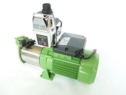 Tech-LINE by Tazado Gartenpumpe MH2200 mit intelligenter Steuerung EPC-4 Leistung Pumpe 2200Watt INOX 10800 Lh Spannung 230V50Hz 55bar Schaufelräder und Welle aus robusten rostfreien Edelstahl