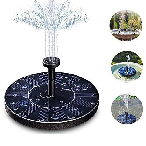 Forever-Beauty Solar Brunnen PumpenSolar Springbrunnen garten mit 14W Monokristalline Solar Panel für Gartenteich oder Springbrunnen